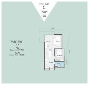 viridea signature soho medini-floor plan-C2