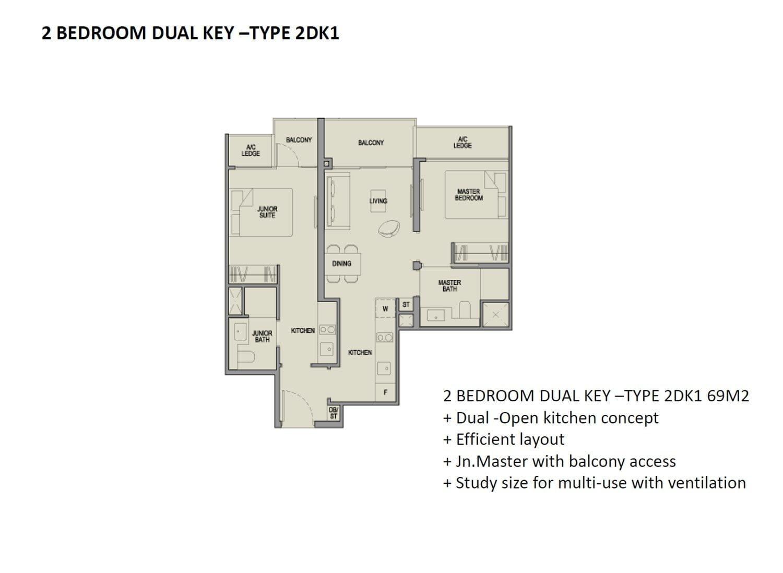 Park-Colonial-2-Bedroom Dual-Key