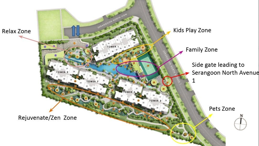 Serangoon The Garden Residences - Site Plan