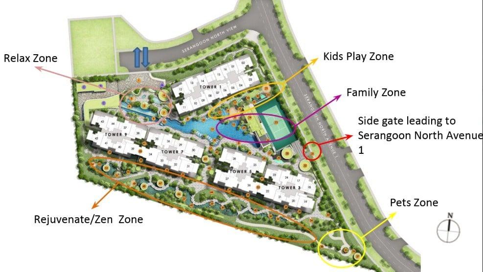 Serangoon The Garden Residences - Site Plan