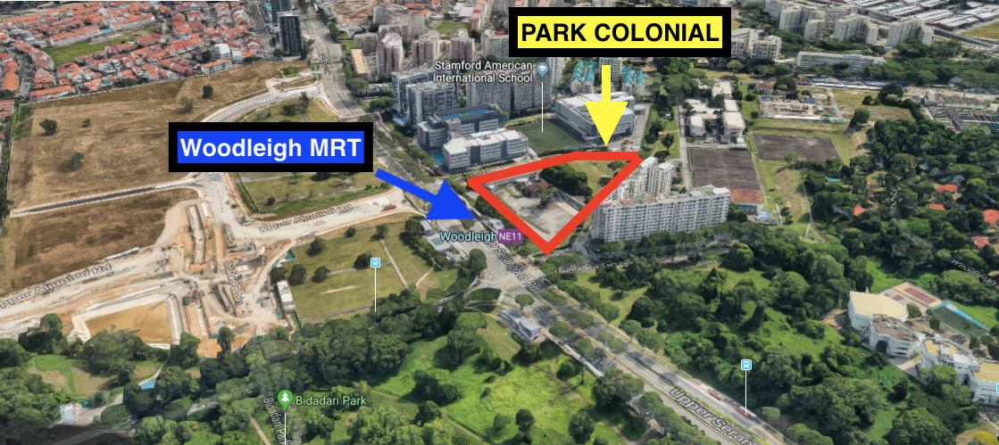 park colonial woodleigh location map