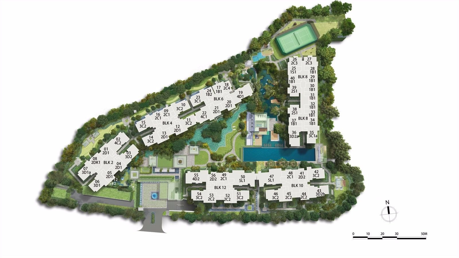park colonial woodleigh siteplan
