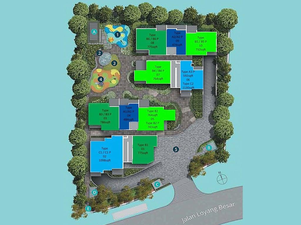 Casa Al Mare Pasir Ris Site Plan
