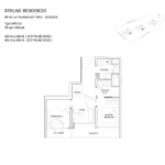 Stiriling Residences Queenstown Floorplan 2-BR-C