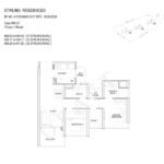 Stiriling Residences Queenstown Floorplan 2S