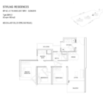 Stiriling Residences Queenstown Floorplan 3-BR-C