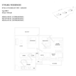 Stiriling Residences Queenstown Floorplan 3P
