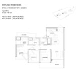 Stiriling Residences Queenstown Floorplan 3U