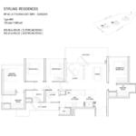 Stiriling Residences Queenstown Floorplan 4-BR