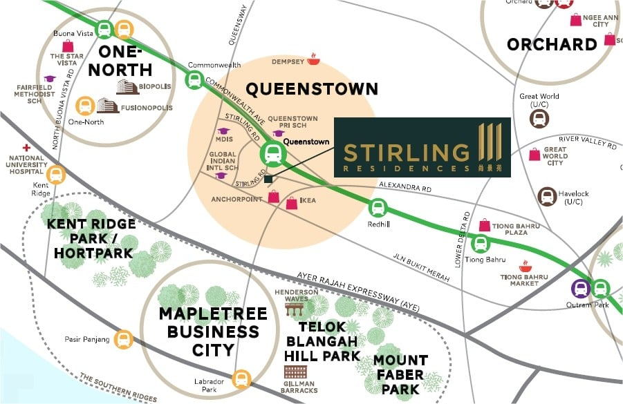 Stirling-Residences-Location-Map