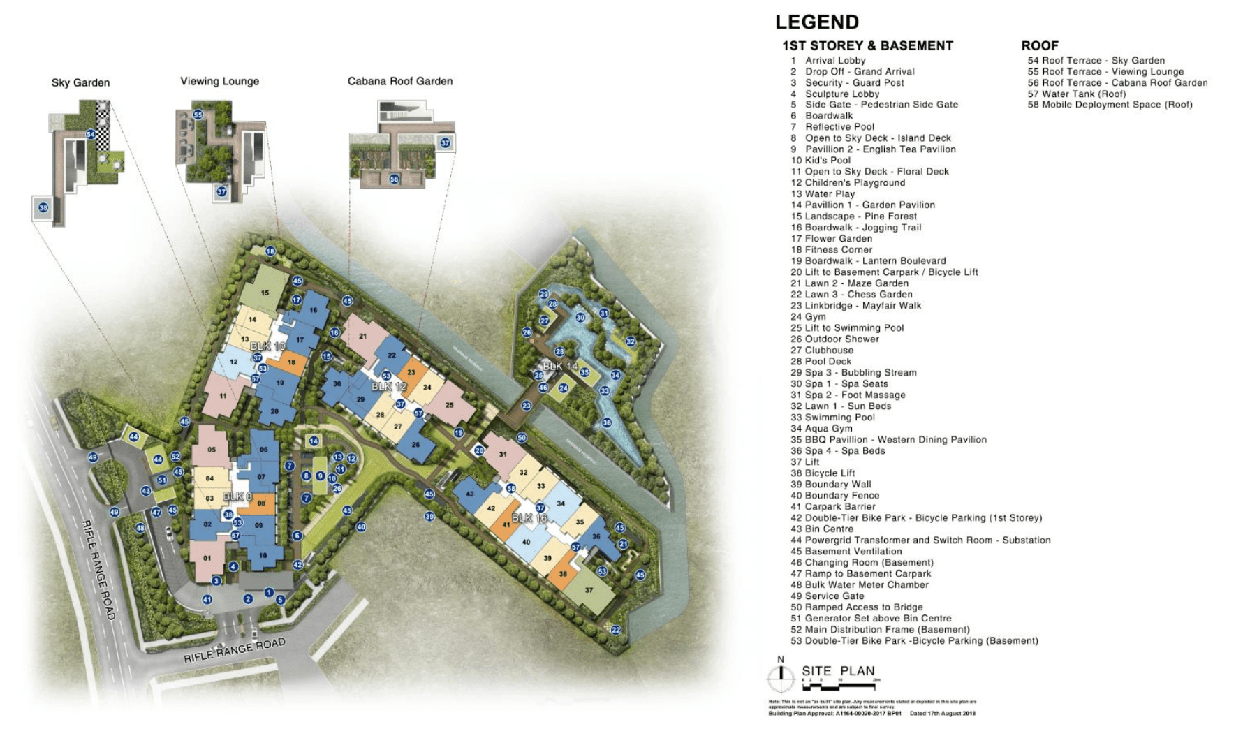 mayfair gardens Site Plan