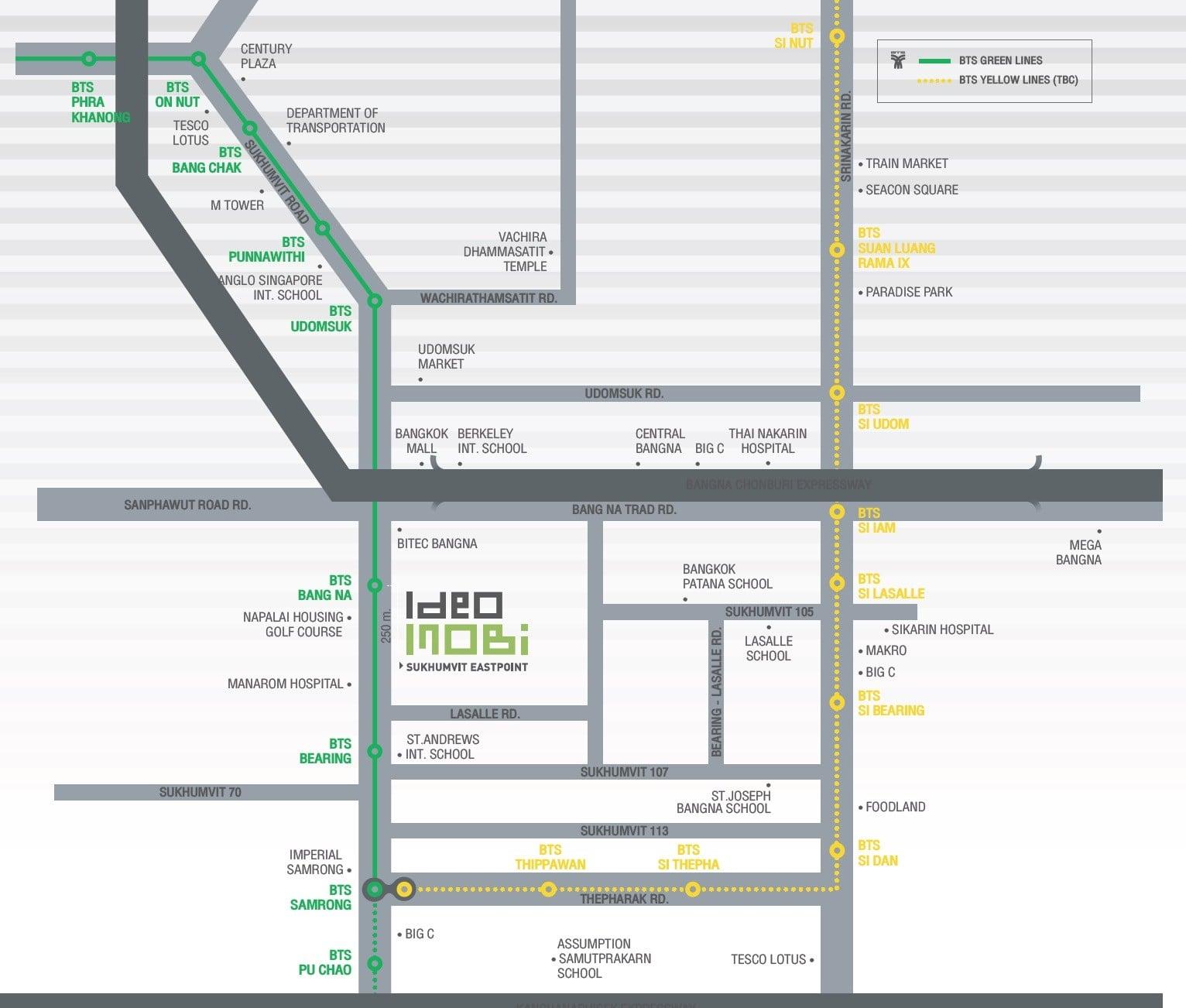 Ananda-Ideo-Mobi-Sukhumvit-Eastpoint-Location Map