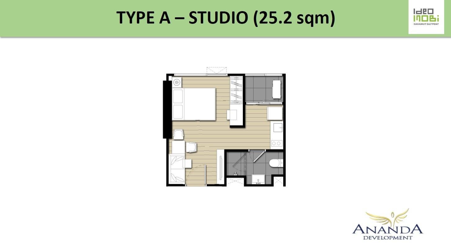 Ideo-Mobi-Sukhumvit-Eastpoint-Floor Plan Type A Studio