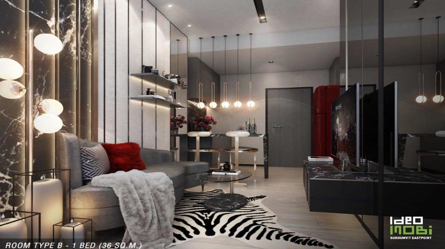 Ideo-Mobi-Sukhumvit-Eastpoint-Floor Plan Type B 1Bedroom- Showroom