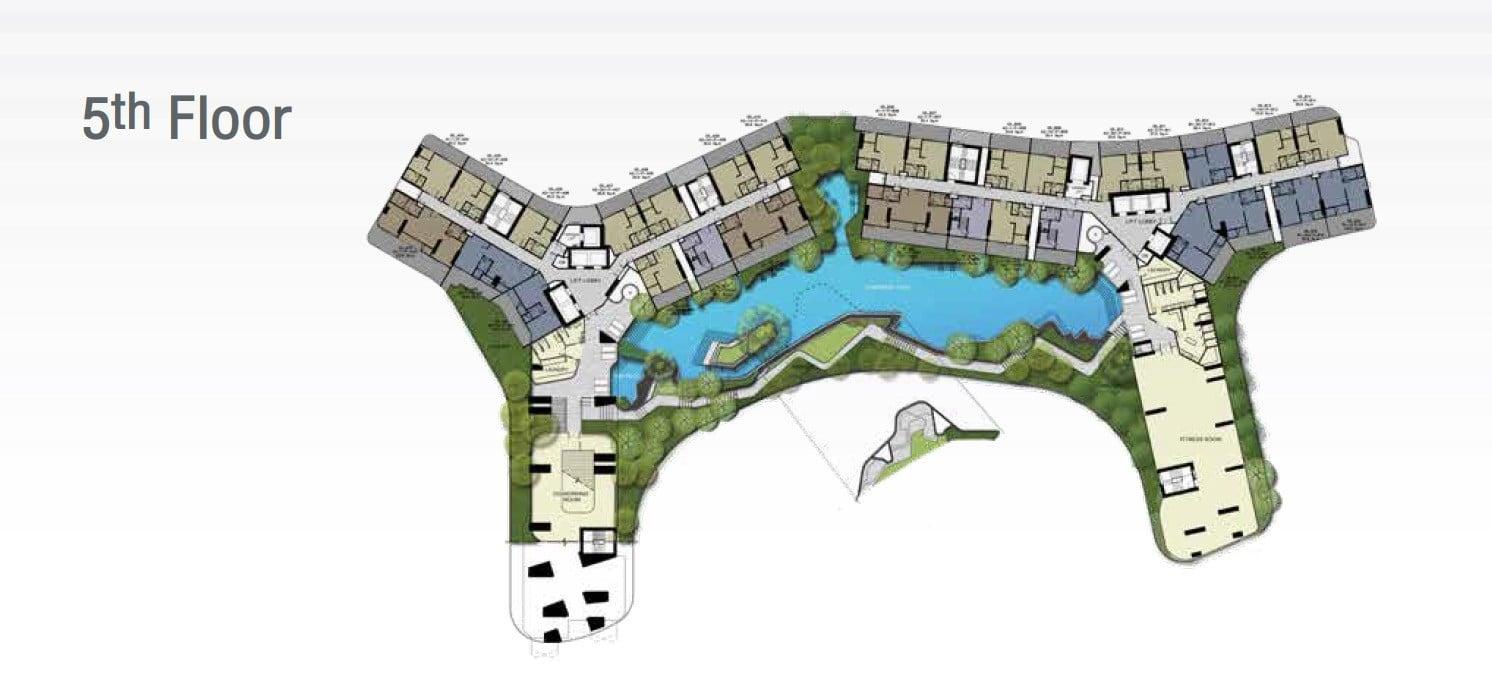 Ideo-Mobi-Sukhumvit-Eastpoint-site plan 5th floor