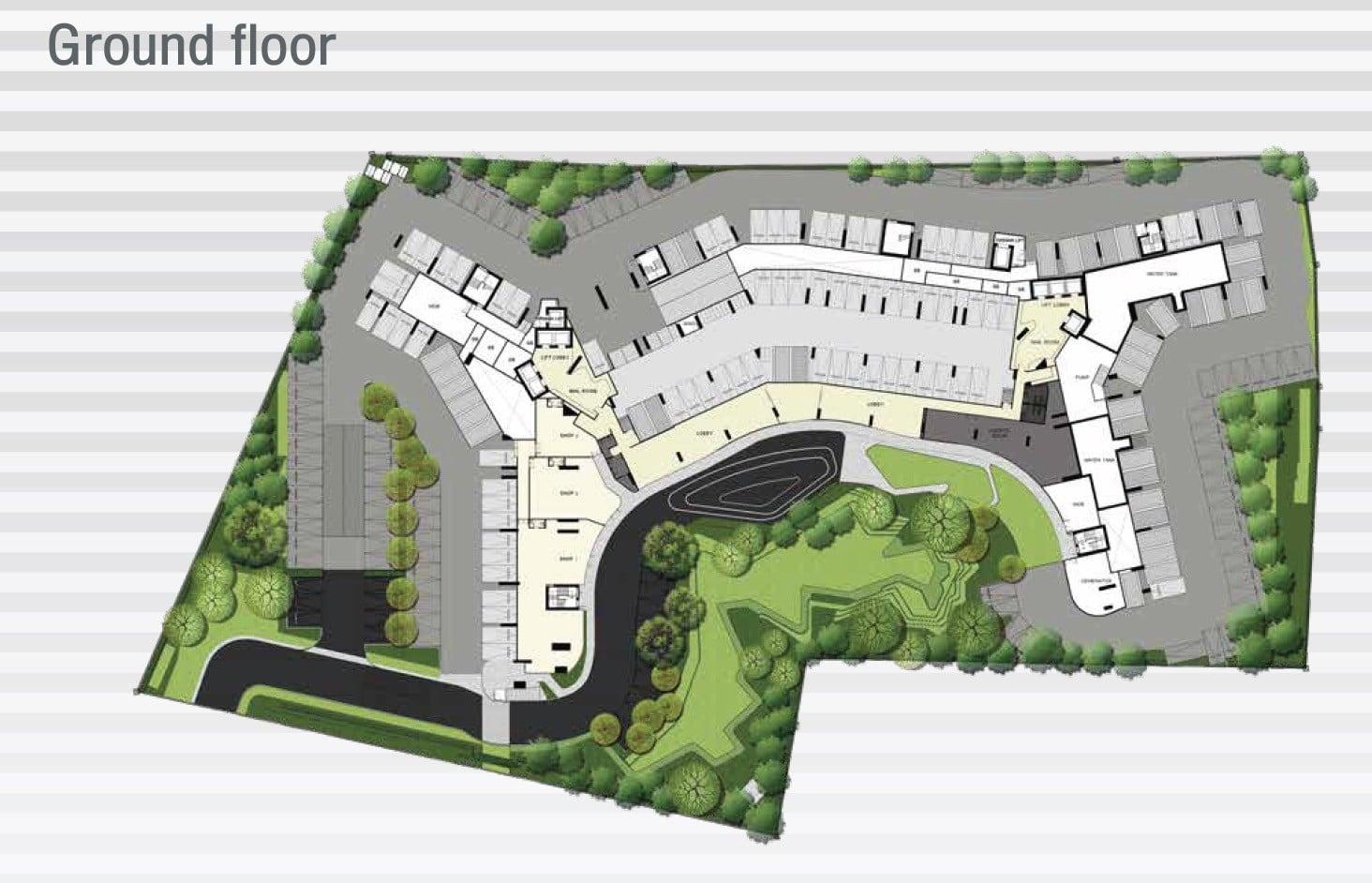 Ideo-Mobi-Sukhumvit-Eastpoint-site plan ground