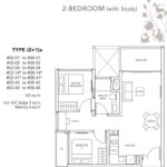 the-jovell-floor plan 2br+study a