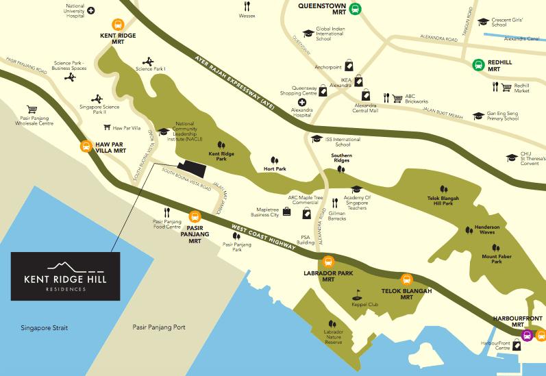 Kent RIdge Hill Map