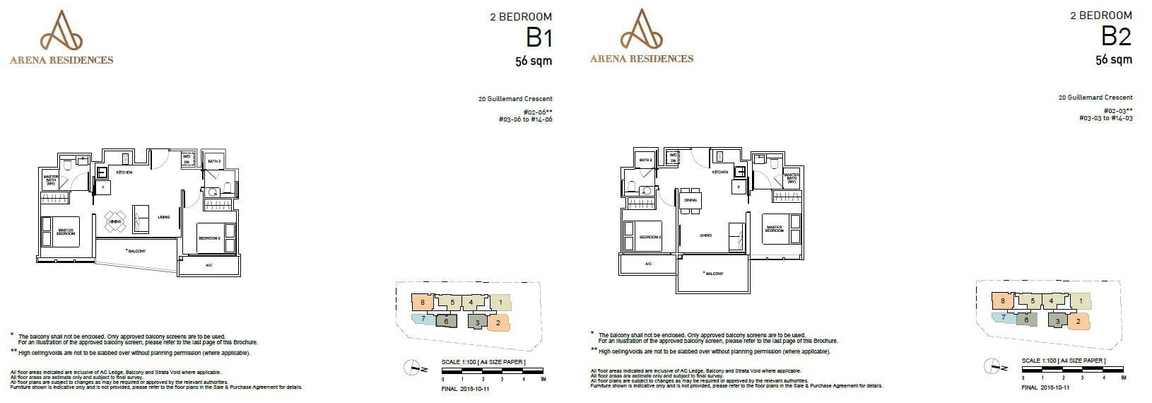 Arena Residences Guillemard - Floor Plan 2