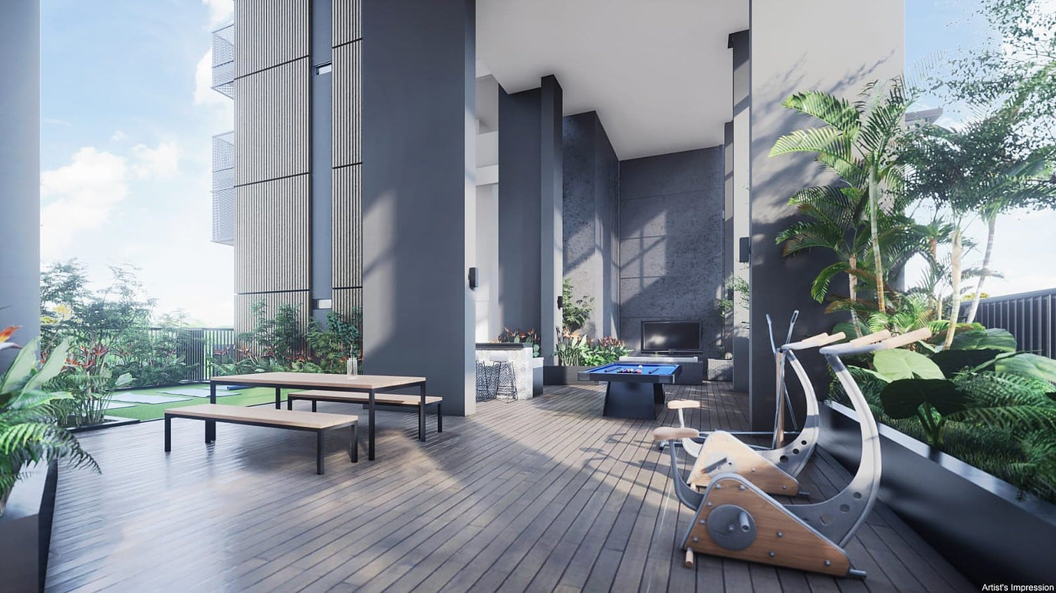 Arena Residences Guillemard - Residences Workout Deck