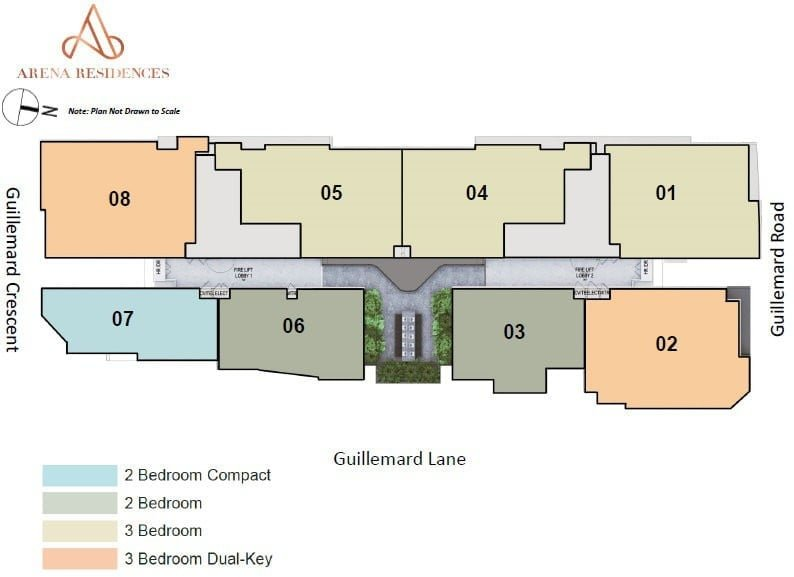Arena Residences Guillemard - Site Plan