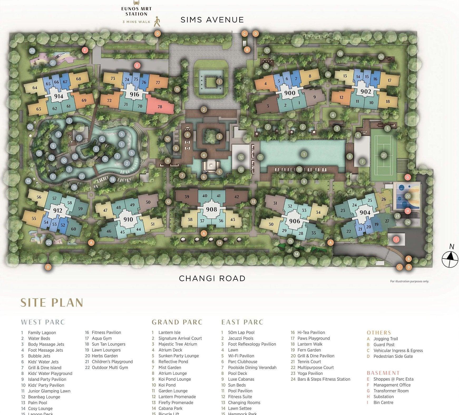 Parc Esta Eunos Site Plan