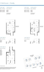 Parc Estat floor plan 1+study