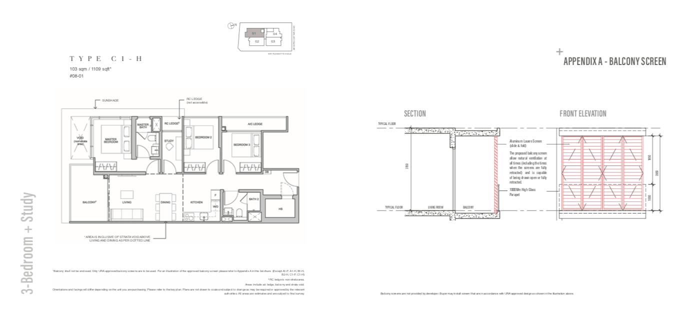 The Addition Floor Plan 3BR+Study (b)