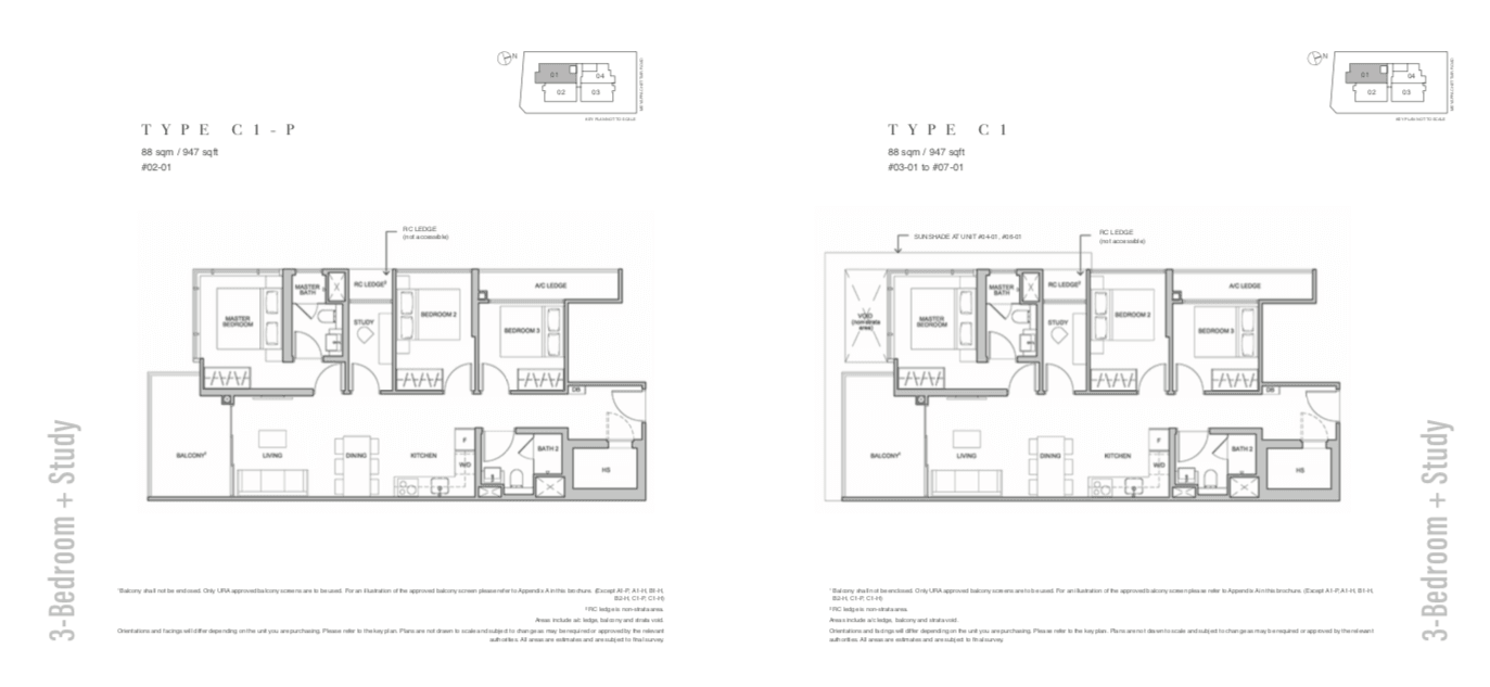 The Addition Floor Plan 3BR+Study