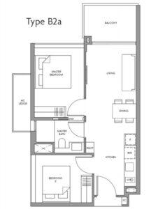 fourth-avenue-residences-floor plan-2BR