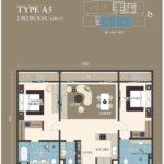 Citadines-Medini-FloorPlan-2BR Type A5 1284sf