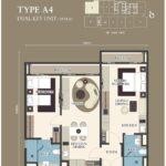 Citadines-Medini-FloorPlan-DualKeys Type A4 1054sf