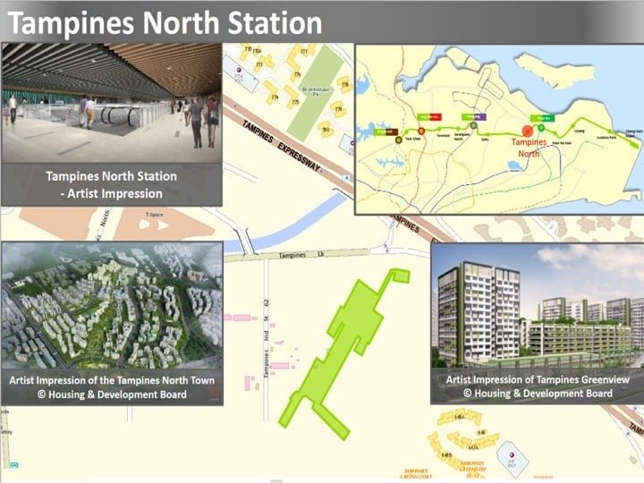 Condo Nearby Cross Island Line CRL Tampines North Station