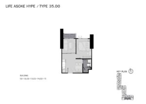 Life-Asoke-Hype-Bangkok-Floor-Plan-1-Bedroom-Plus-35sqm