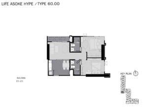 Life-Asoke-Hype-Bangkok-Floor-Plan-2B2B-60sqm