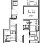 1953-Condo-Oxley-Floor Plan-2-Bed-Study