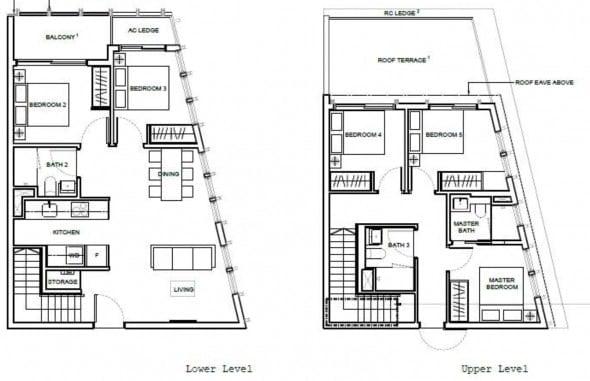 1953-Condo-Oxley-Floor Plan-5-Bedroom