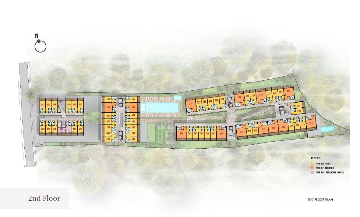 Citadines Bali Site-Plan-2nd-Floor