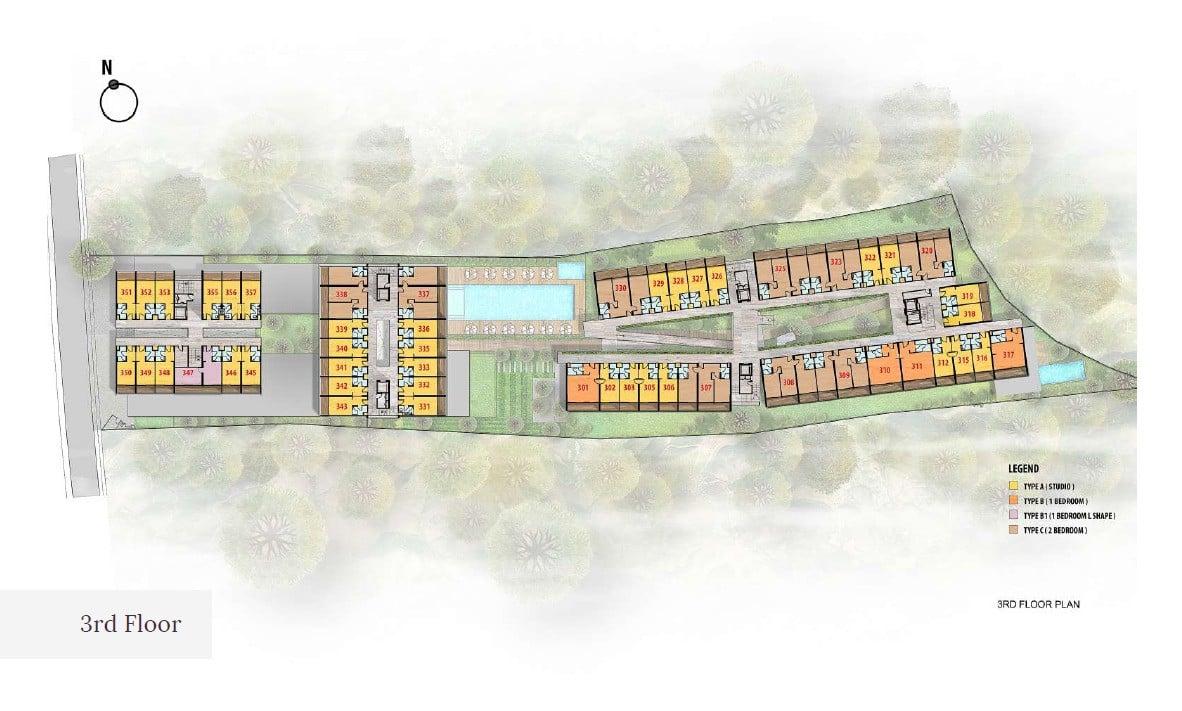 Citadines Bali Site-Plan-3rd-Floor