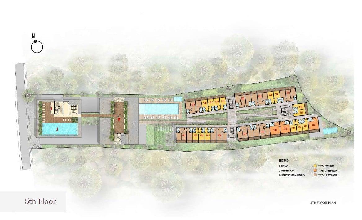 Citadines Bali Site-Plan-5th-Floor