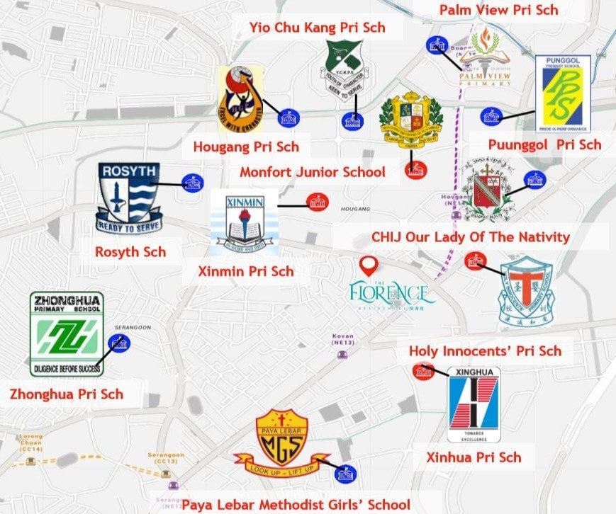 nearby schools map