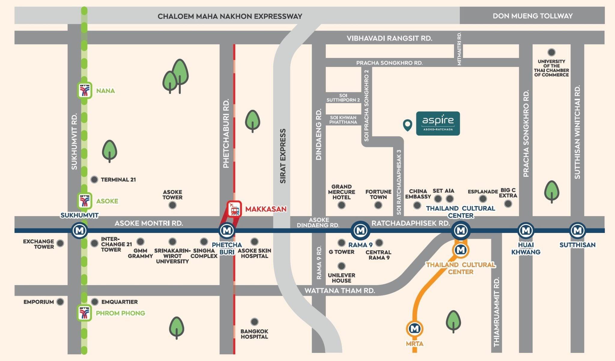 Aspire-Asoke-Ratchada-Location-Map2