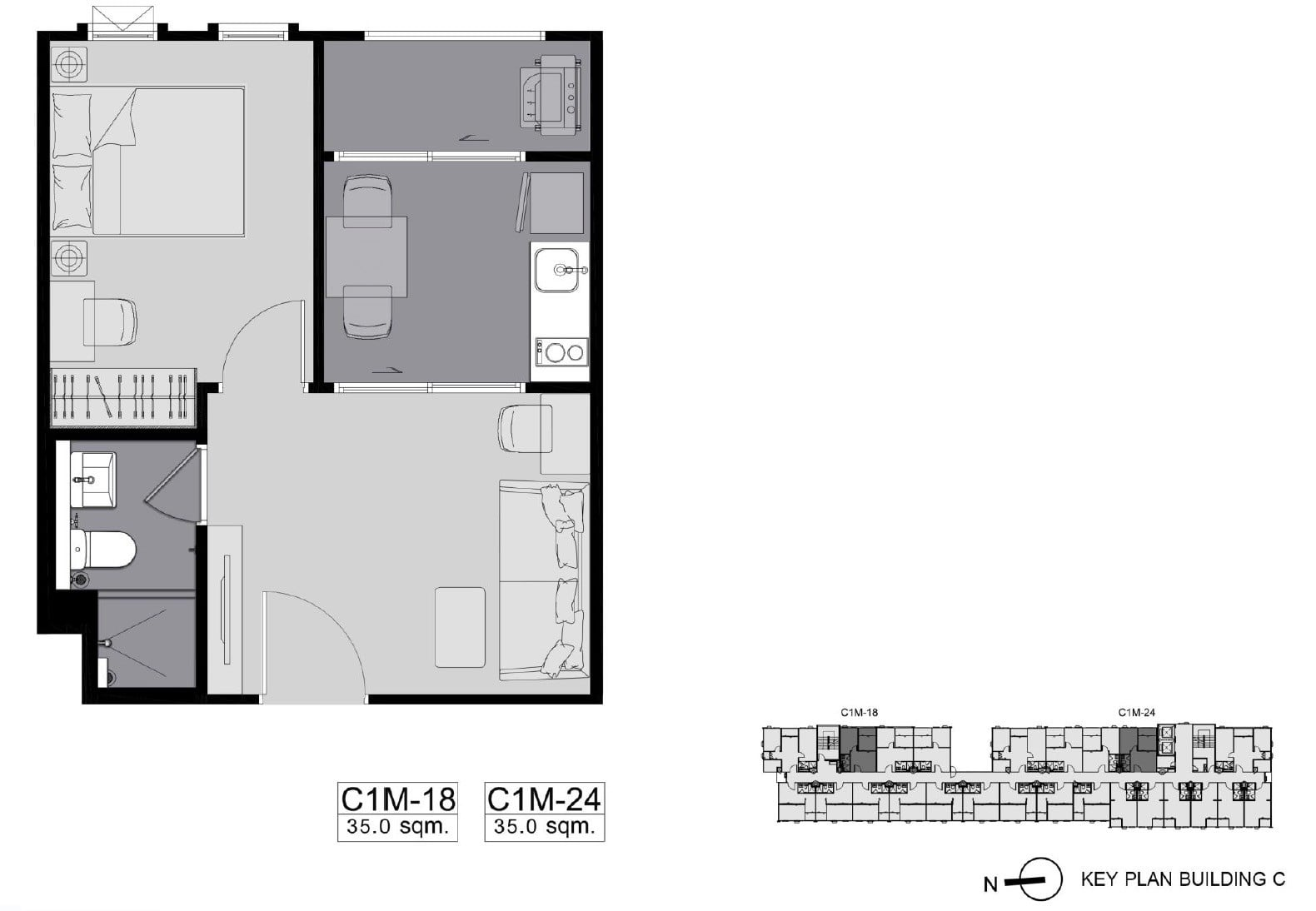 Aspire-Asoke-ratchada-1Bedroom C1M