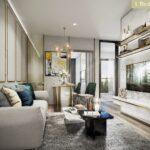 Aspire-Asoke-ratchada-1Bedroom Living