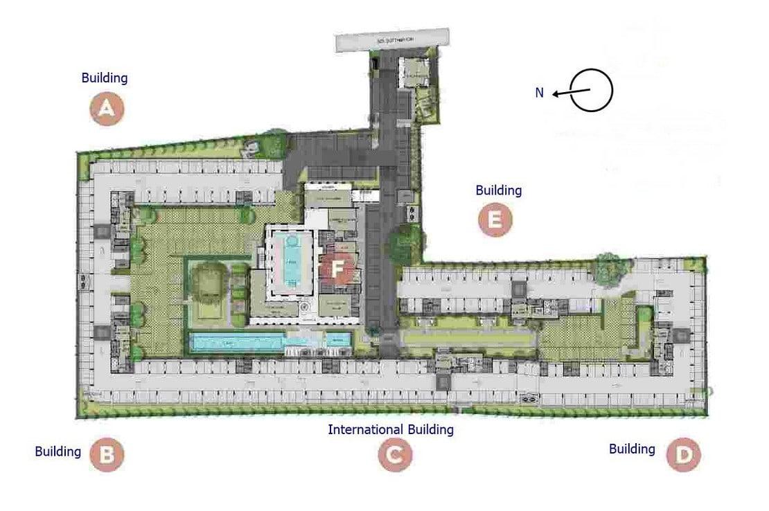 Aspire-Asoke-ratchada-Site-Plan