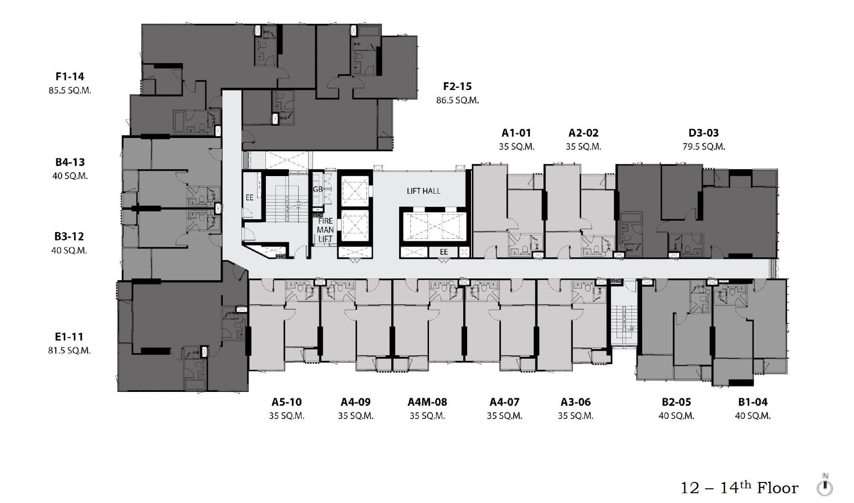 Rhythm-Ekkamai-Estate-Floor Plan 12-14th