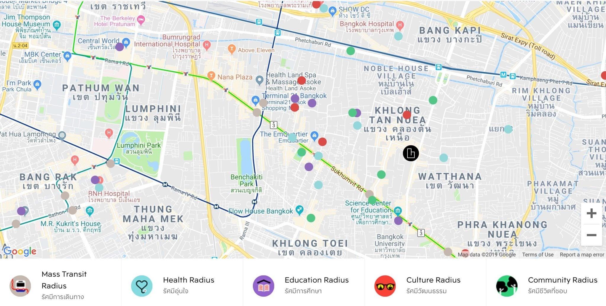 rhythm-ekkamai-estate-google-map