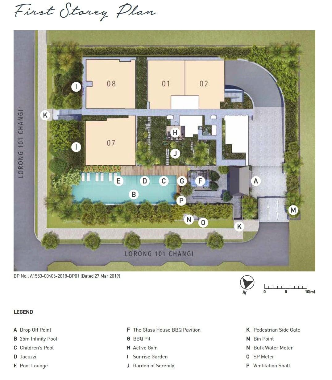 Olloi Joo Chiat Site Plan 1st Storey