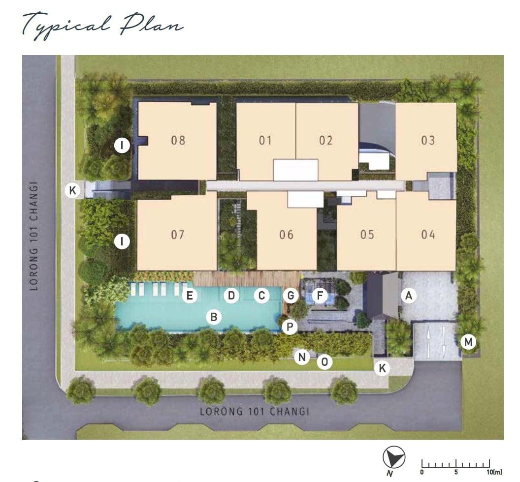 Olloi Joo Chiat Site Plan Typical