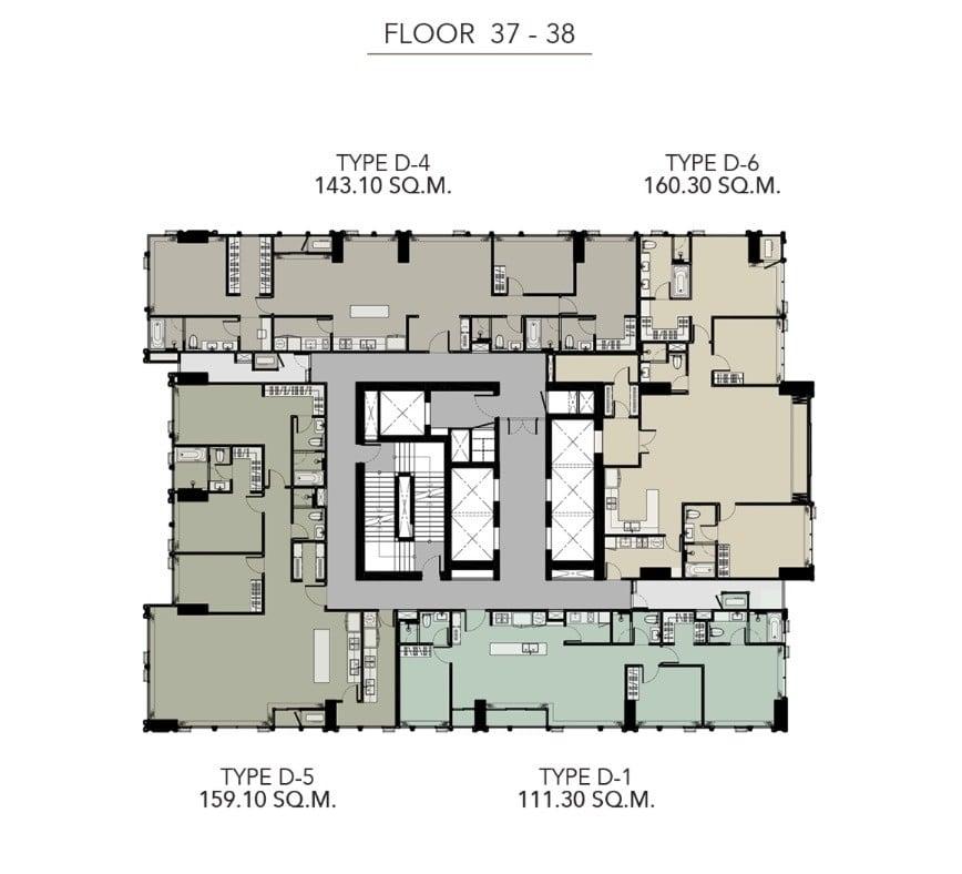 HYDE-Heritage-Thonglor-Floor Plan 37-38